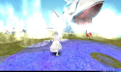 白鯨 - 霧(プレイヤー中心円形青床)