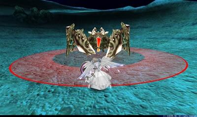 月見の大蟹第2形態 - ボス中心円形赤床[周囲]