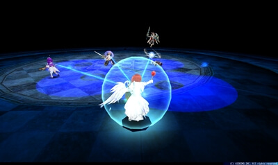 Pアバター第2形態 - プレイヤー中心円形青床[隕石]