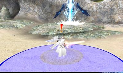 ピステウス - プレイヤー中心円形青床[隕石]
