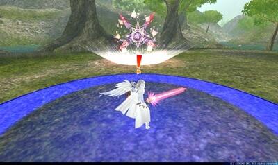 ジェンマ - プレイヤー中心円形青床[隕石]