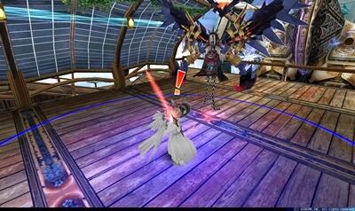 レリザ - プレイヤー中心円形青床